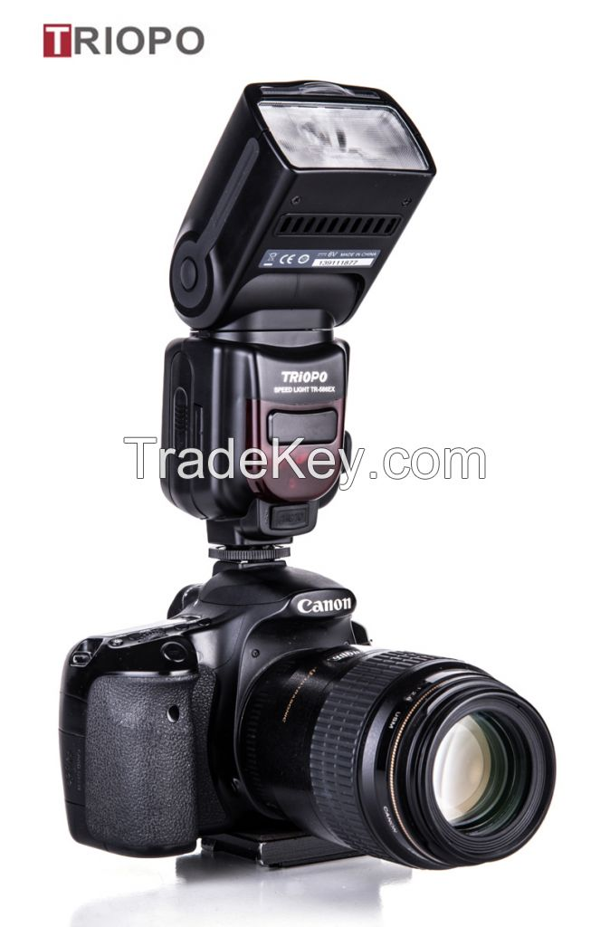 TRIOPO TR-586 dslr camera speedlite studio flash light,manufacture TTL flashgun  with slave flash for Nikon and Canon