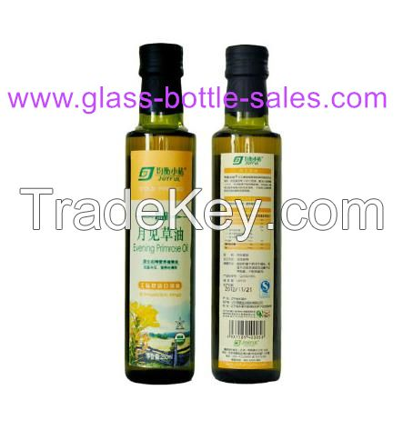 Marasca or dorica Clear and Dark Green Olive Oil Glass Bottles With alu cap