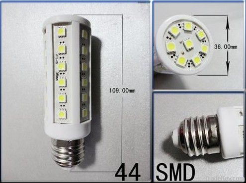 New 360 degree E27 44SMD 7.5W led corn bulb White 5050SMD 220V