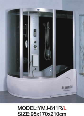 European design computerized steam shower room with whirlpool tub