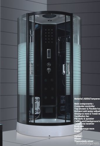 90x90cm 100x100cm luxury steam shower cabin with chair foot massager