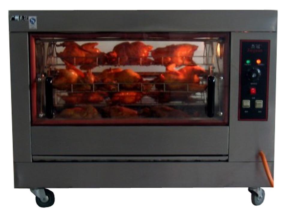 Stainless steel gas chicken rotisserie