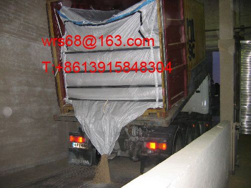 High quality PP woven bulk container liner bag for 20ft and 40ft