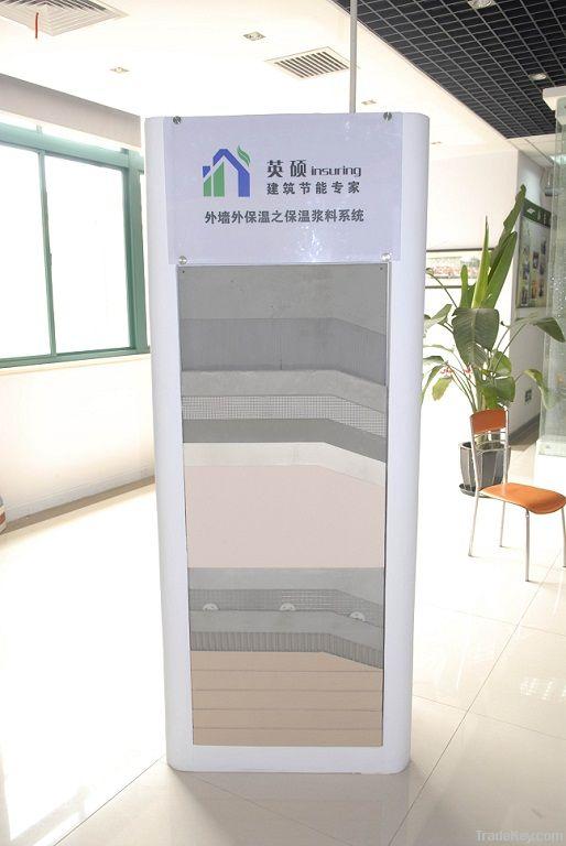 Inorganic glass beeds exterior wall heat insulation system