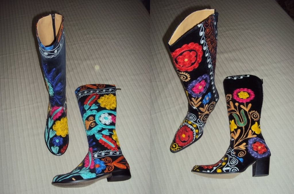 Suzani Embroidery Boots, Shoes , Bags , Belts