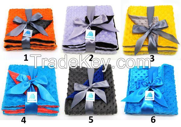 100% Polyester Custom Size Super Soft Minky Baby Blanket