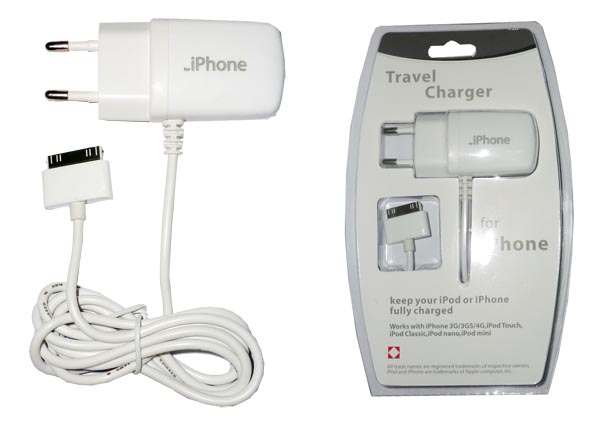 Travel Charger for iPhone 3G/4G/iPod/iPad/iPad 2