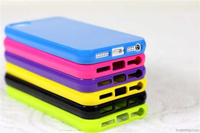 New iphone 5 cases Soft TPU Back Case Glossy Cover for iphone5 5G