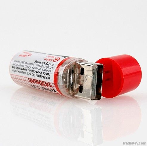 USB NiMH AA RECHARGEABLE BATT 1.2V 1450mAh