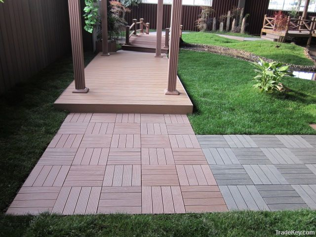 Interlocking WPC DIY tile