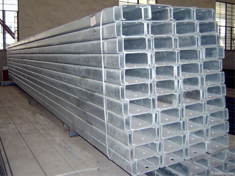 Hot Dip Galvanized Steel - U Beam