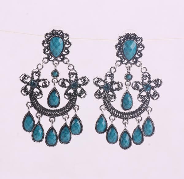 crystal chandelier earrings silver