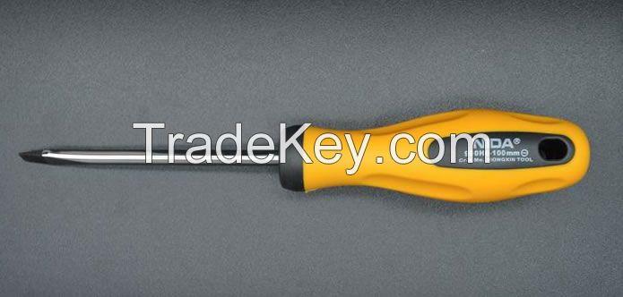 NIDA Special Hard Steel Rubber Handle Slotted Screwdriver