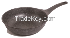 Blue marble Heat- Prevention Frying Pan