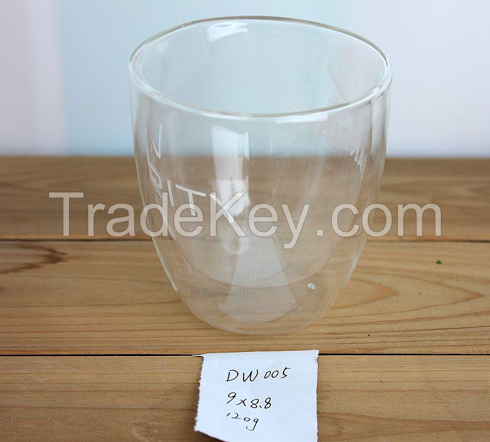 Borosilicate doublewall glass cup