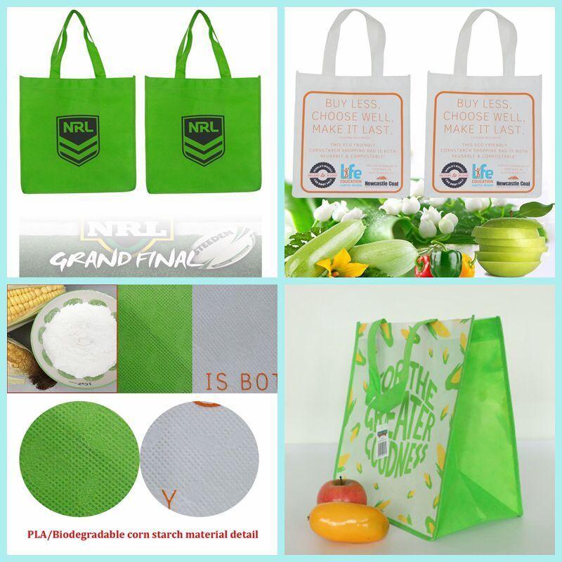 Biodegradable corn starch shopping bag