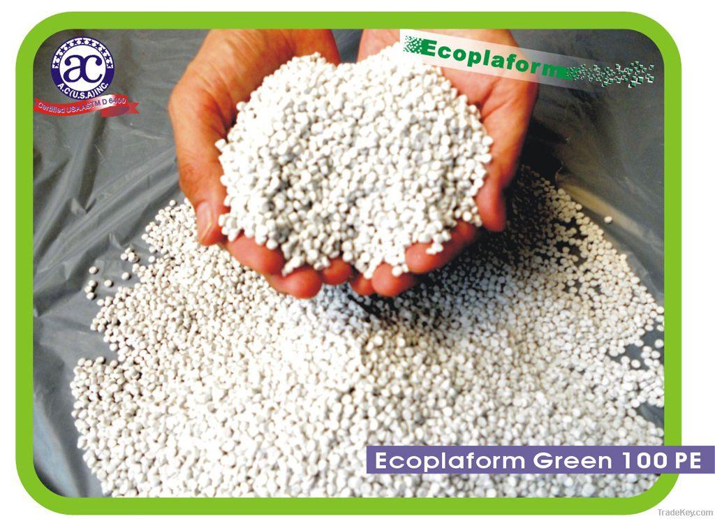 PE Ecoplaform Green Plastic Pellets
