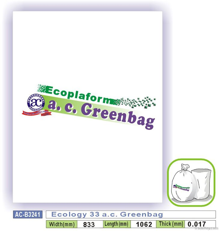 Ecology 33 a.c. Greenbag