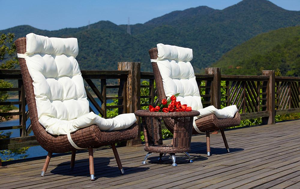 Indoor Outdoor Patio Garden Furniture with Rattan Dinning Set
