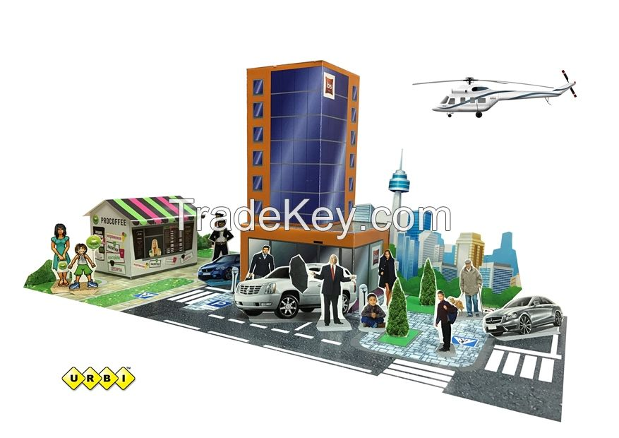 3D educational children's toys from paper