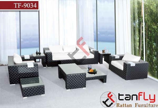 TF9034Outdoor rattan furniture/wicker sofa set