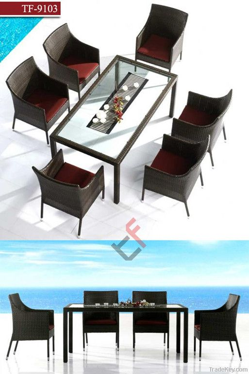 TF9103Patio rattan dining set/outdoor dining set