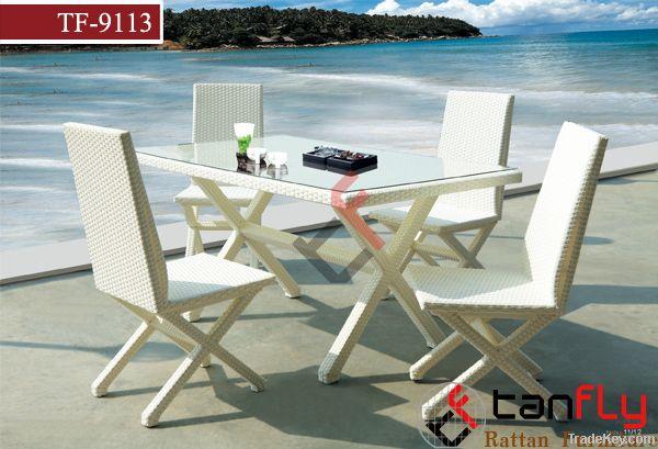 TF-9113 Garden furniture rattan dining set