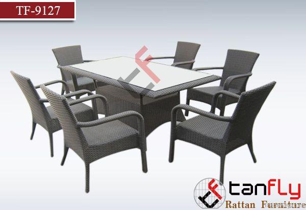 TF-9127Patio rattan/wicker dining set