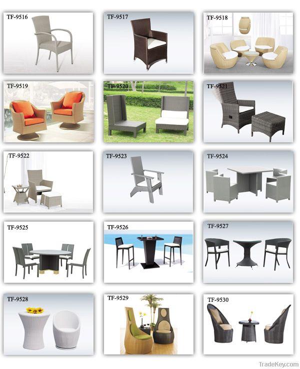 living room wicker leisure coffee table set