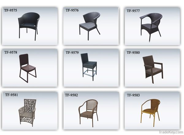 rattan wicker stockable dining chair