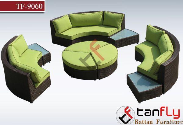 Modular Circle Style Rattan Sofa Set