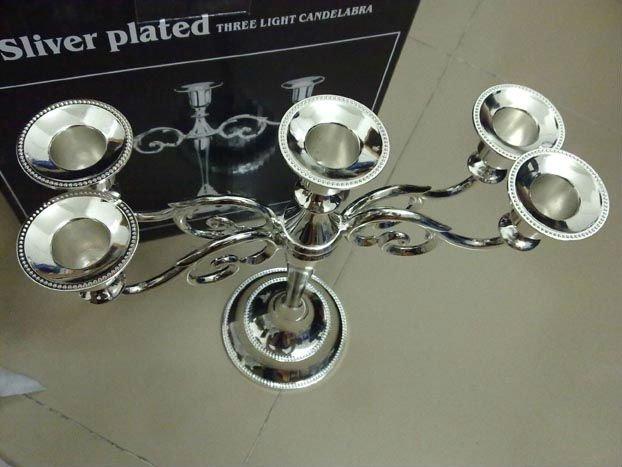 five Candlestick , candle holder, metal candle holder