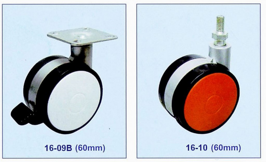 Furniture caster wheel with  plate or brake-supplier