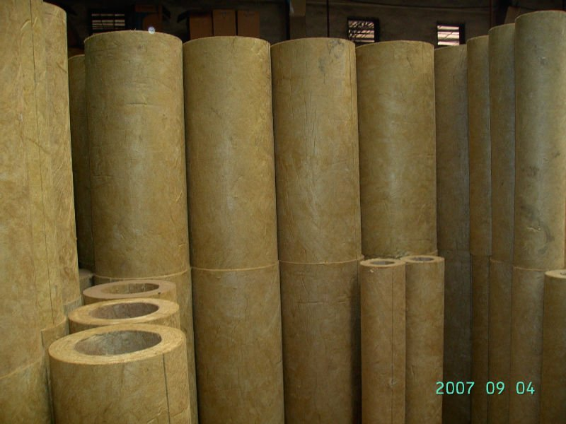 mineral wool heat insulation pipe / rock wool pipe