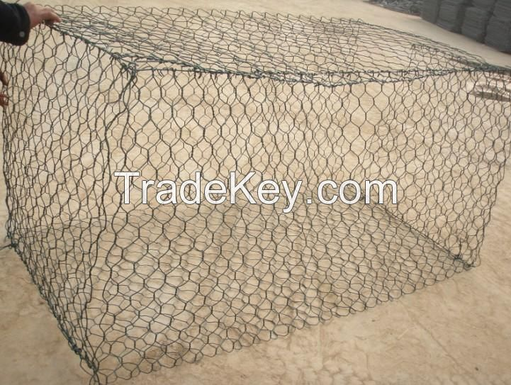 ASTM A975 standard heavily galvanized gabion baskets for erosion control engineering projects