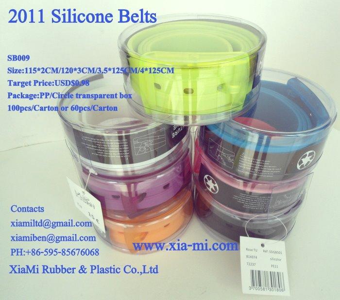 2011 rubber belt, silicone belt, 100%silicone belt