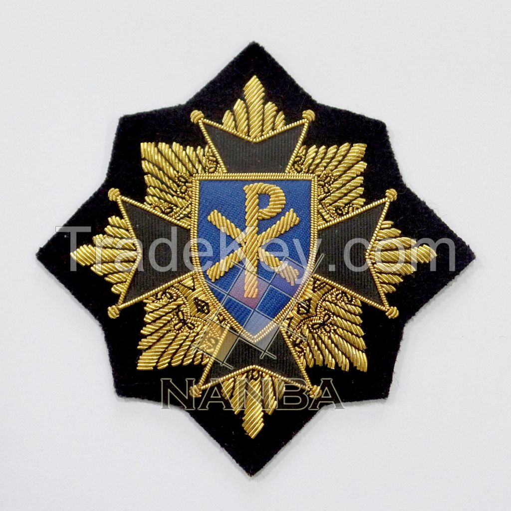 Handmade Bullion Badges | Blazer Badges