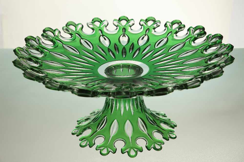 Glass Fruit Plate(Hollow out with base)