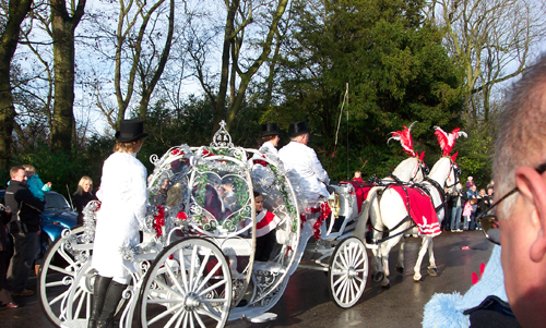 Decorated white Horse and Cart for an Indian Wedding