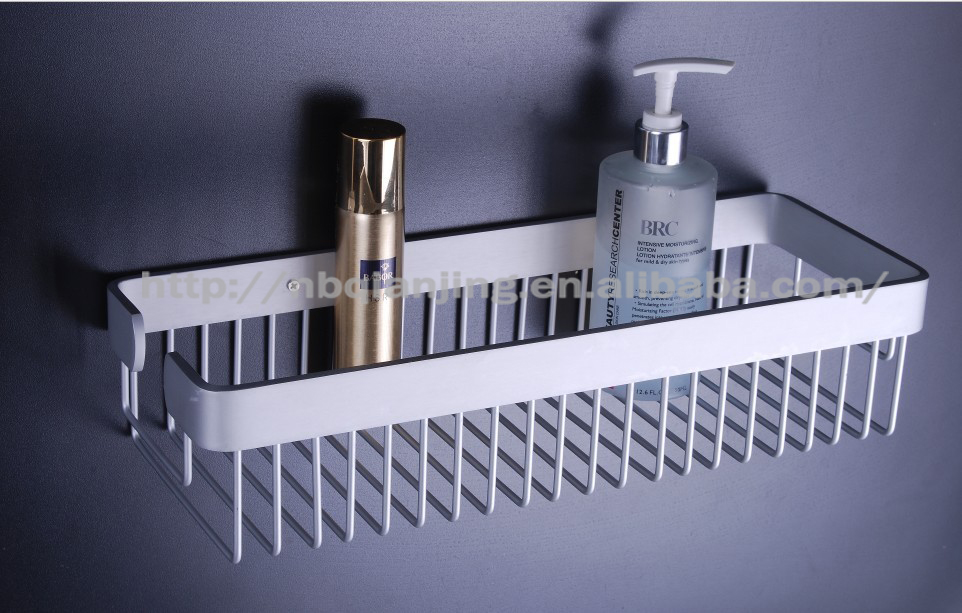 """factory outlets"" QJ8007A-2 broad Space Aluminium bath wall shelf"