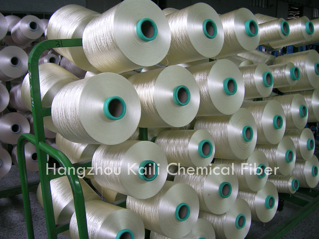 POLYESTER DOPE DYED YARN
