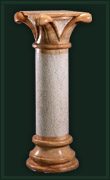 marble, granite carved column