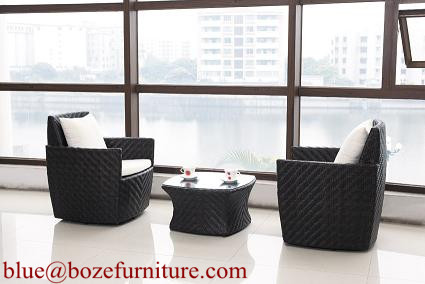 Patio Furniture Good Quality Rattan / Wicker Sofa Set