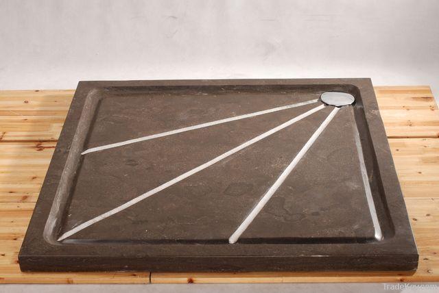 Blue stone bath mats
