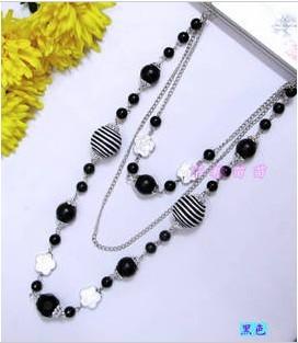 black crystal summer/autumn necklace