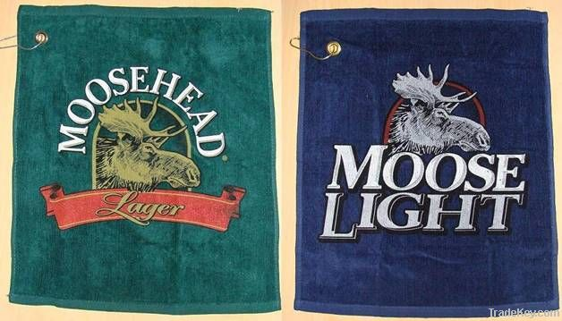 Embroidered Golf Towels  (100% Cotton)