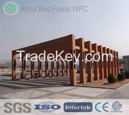 wpc wood plastic composite gazebo for ourdoor or garden furniture