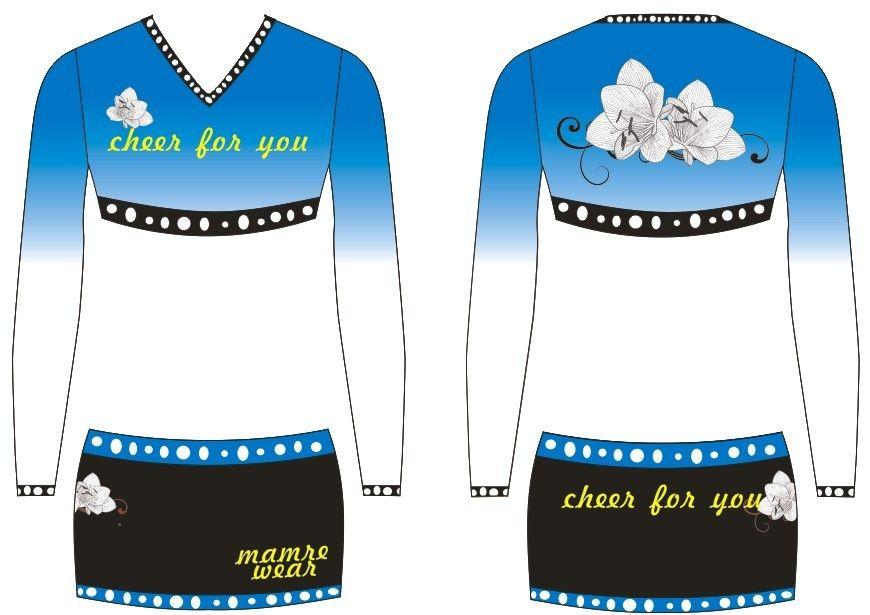 2013 customized design trendy cheerleading uniform