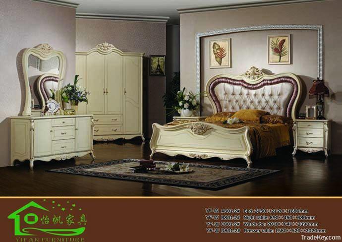 Classic Wooden bedroom furniture YF-WA801-2