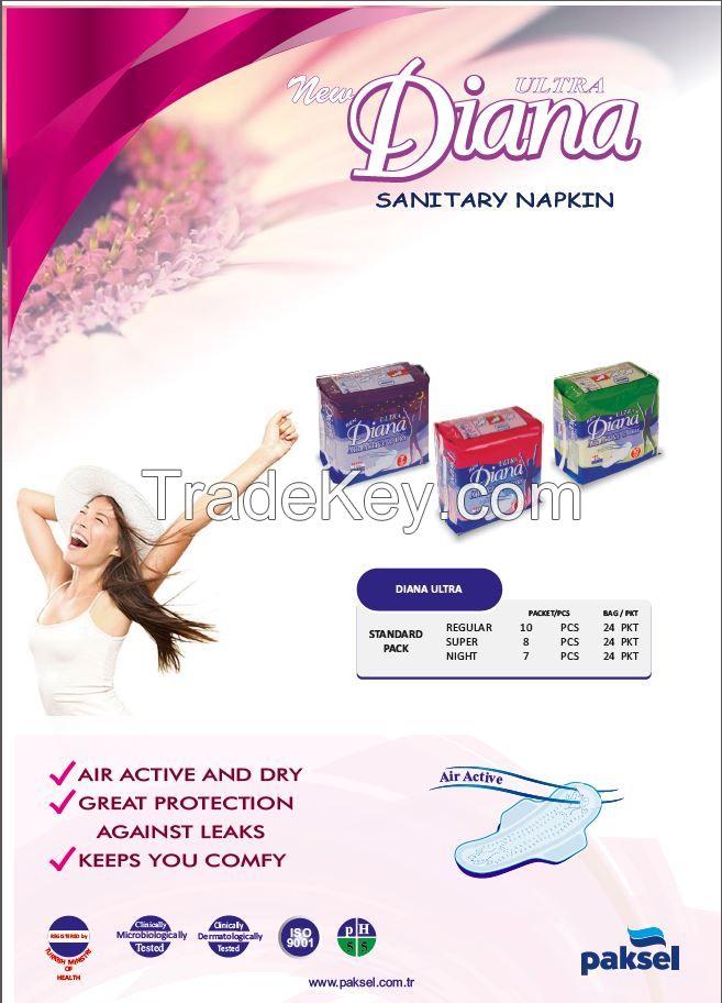 Air Active And Dry Sanitary Napkins - DIANA SANITARY NAPKIN